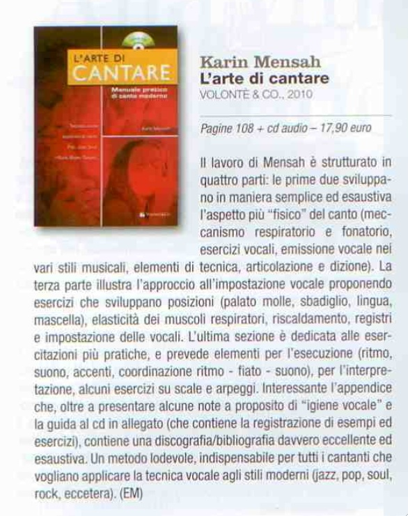 L'arte di cantare sur jazz it