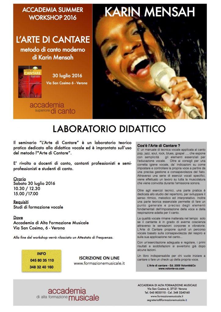 workshop artedicantare
