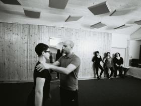 con il personal trainer - foto Luca Bissoli
